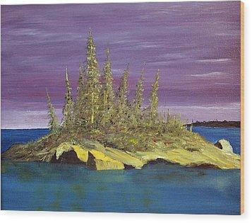 Elk Island Alberta Wood Print
