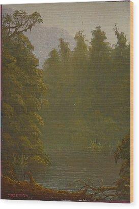 Ellery River 1977 Wood Print by Terry Perham