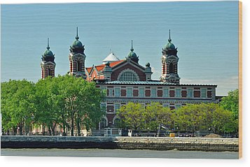 Wood Print featuring the photograph Ellis Island by Nancy De Flon