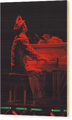 Elton In The Red Wood Print by Scott Smith