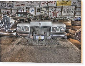 Elvis' Cadillac Wood Print