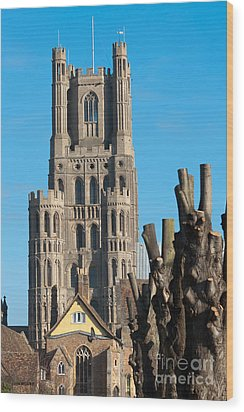 Wood Print featuring the photograph Ely Cathedral by Andrew  Michael