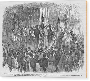 Emancipation, 1863 Wood Print by Granger