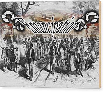 Emancipation Wood Print by Belinda Threeths