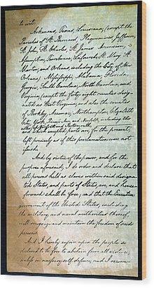 Emancipation Proc., P. 3 Wood Print by Granger
