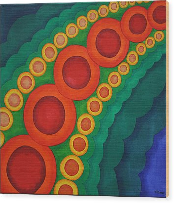 Wood Print featuring the painting Embellishments Viii by Paul Amaranto