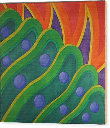 Wood Print featuring the painting Embellishmentsvi by Paul Amaranto