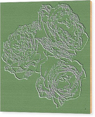 Embossed Roses Wood Print by Will Borden