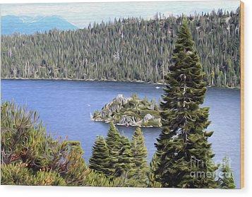 Emerald Bay State Park Wood Print by Anne Raczkowski
