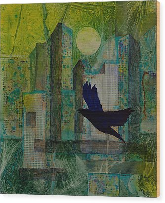 Emerald City Wood Print by David Raderstorf