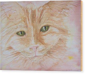 Emerald Eyes Wood Print by Barbara McGeachen