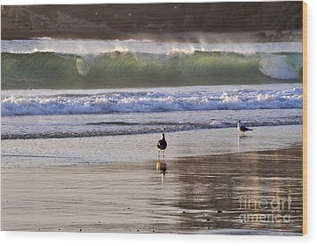 Wood Print featuring the photograph Emerald Wave by Johanne Peale