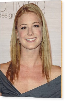 Emily Vancamp At Arrivals For 2009 Wood Print by Everett