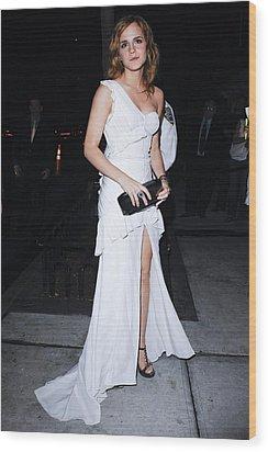 Emma Watson Wearing A White Wood Print by Everett