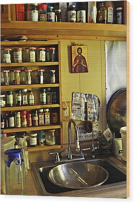 Emmaus House Kitchen Wood Print by Sarah Loft