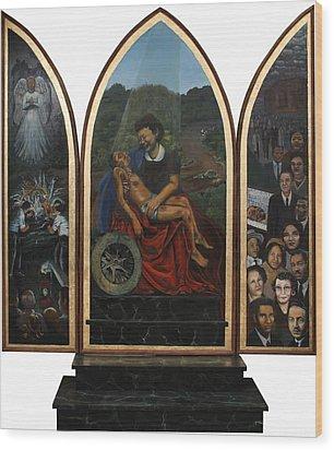 Emmett Till Memorial Triptych Wood Print by Art Nomad Sandra  Hansen