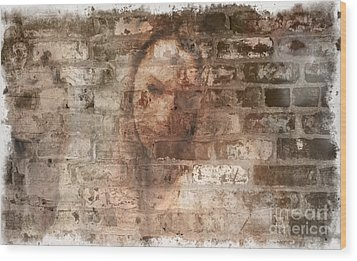 Wood Print featuring the photograph Emotions- Self Portrait by Janie Johnson