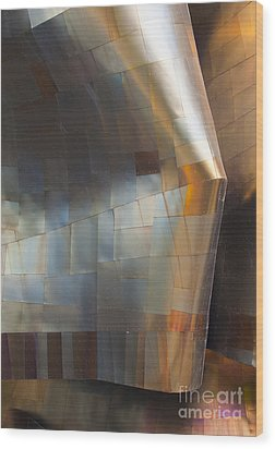Emp Abstract Fold Wood Print by Chris Dutton