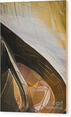 Emp Curves Wood Print by Chris Dutton