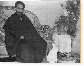 Emperor Haile Selassie, Circa 1930-1935 Wood Print by Everett