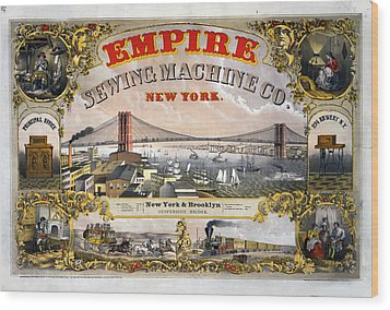 Empire Sewing Brooklyn Wood Print by Charles  shoup