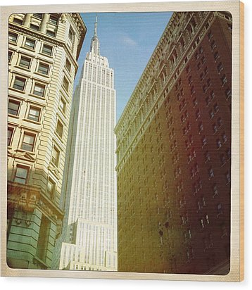 Empire State Building Wood Print by Ben Peterson