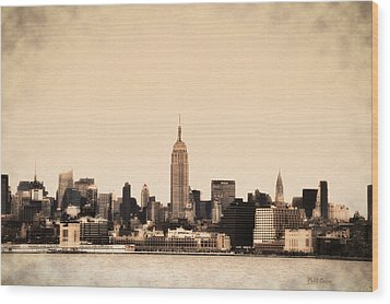 Empire State Building Wood Print by Bill Cannon