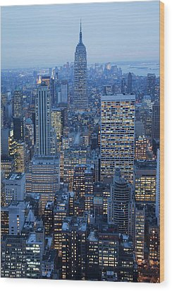 Empire State Building Wood Print by Buena Vista Images