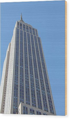 Empire State Building Wood Print by David Grant