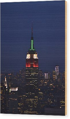 Empire State Building1 Wood Print by Zawhaus Photography