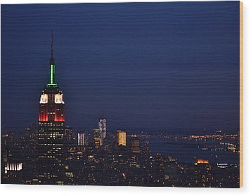 Empire State Building3 Wood Print by Zawhaus Photography