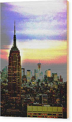 Empire State Building4 Wood Print by Zawhaus Photography