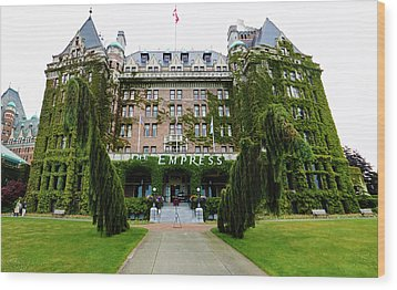 Empress Hotel - Victoria Canada  Wood Print by Gregory Dyer