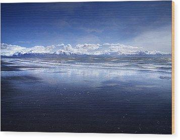 Empty Beach Wood Print by Michele Cornelius