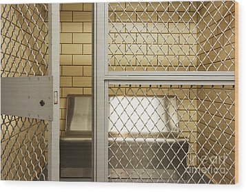 Empty Jail Holding Cell Wood Print by Jeremy Woodhouse