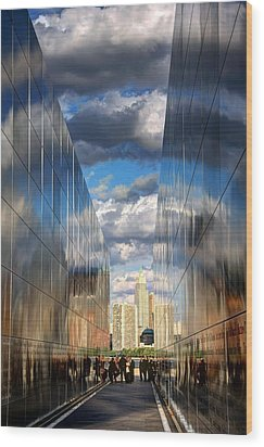 Empty Sky Memorial Wood Print by John Loreaux