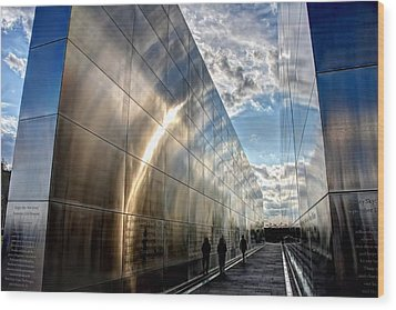 Empty Sky Memorial Nj Wood Print by John Loreaux