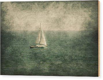 Empty Yacht  Wood Print by Svetlana Sewell