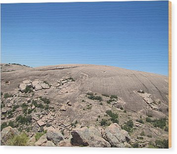 Enchanted Rock Wood Print by Barry Moore