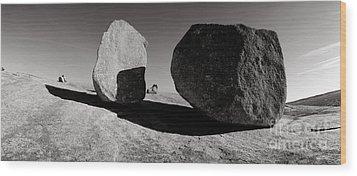 Enchanted Rock Wood Print by David  Rusch