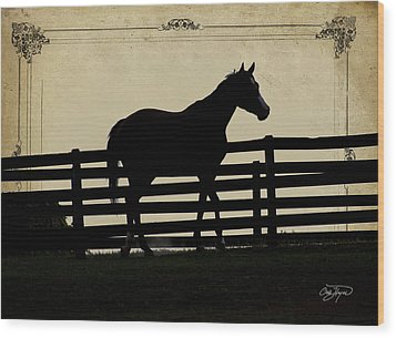 End Of The Day In Georgia - Horse Lovers Must See - Artist Cris Hayes Wood Print