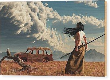 End Of The Road Wood Print by Daniel Eskridge