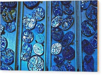 End Of Time Blues Wood Print by Frank SantAgata