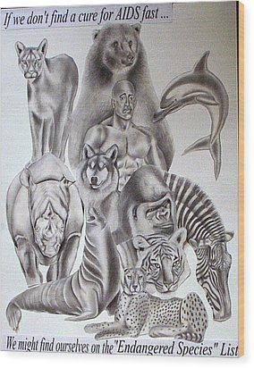 Endangered Species Wood Print by Rick Hill