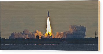 Endeavor Blast Off Wood Print by Dorothy Cunningham