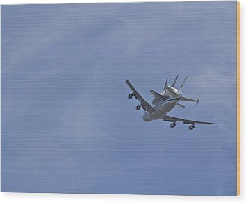Endeavour's Last Flight Wood Print by Molly Heng