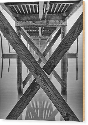 Endless Pier Wood Print by Brian Young