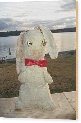 Energizer Bunny No More Wood Print by Kym Backland