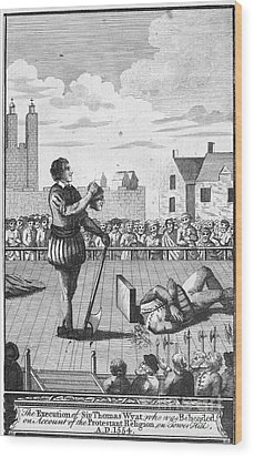 England: Beheading, 1554 Wood Print by Granger