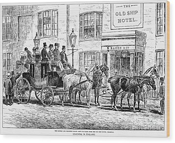 England: Coaching, 1876 Wood Print by Granger